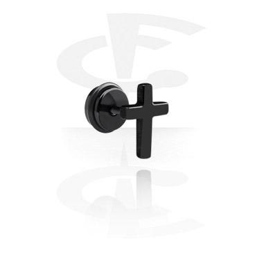 Fake Piercings, Schwarzer Fake Plug, Chirurgenstahl 316L