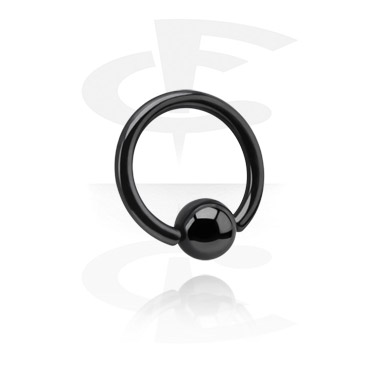 Ball closure ring noir