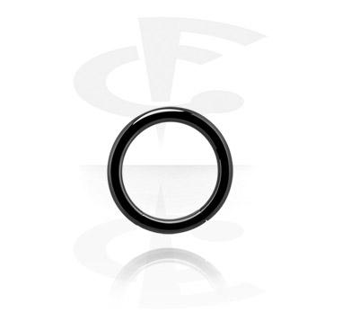 Hladký černý segmentový kroužek