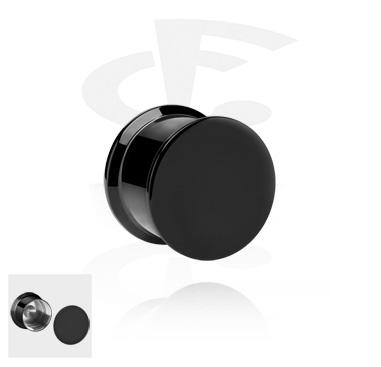 Black Plain Box Plug