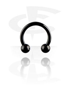 Circular Barbell, Circular barbell nero, Titanio