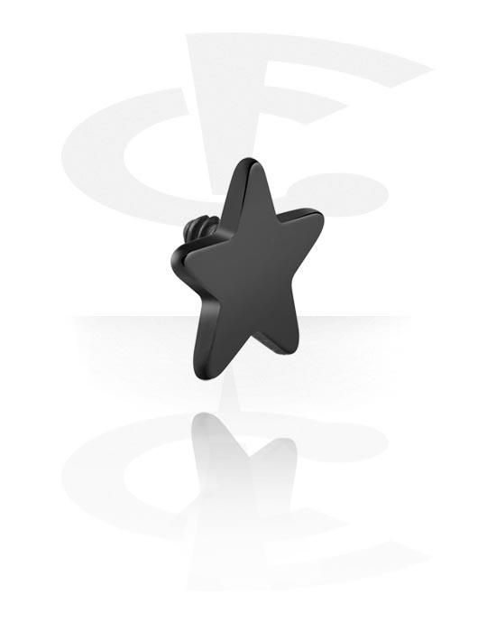 Kuličky, kolíčky a další, Attachment for 1.6mm Internally Threaded Pins s star design, Titan