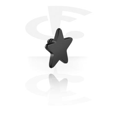 Schwarzer Stern für Stäbe mit Innengewinde