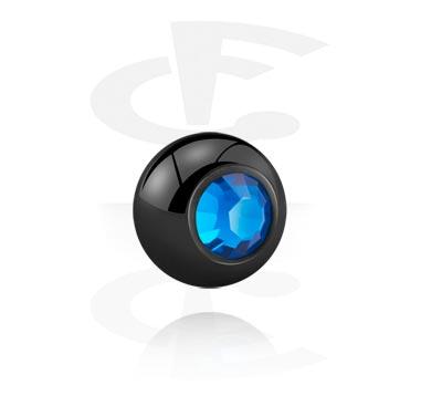 Crna kuglica obložena kristalima
