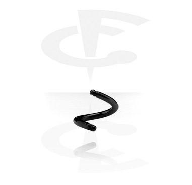 Black Spiral Pin