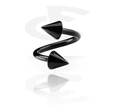 Schwarze Spirale mit Cones