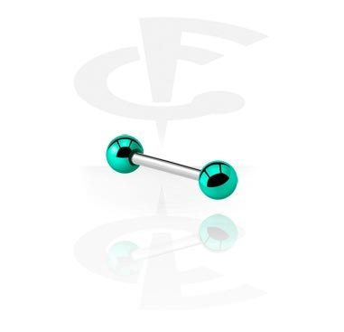 Barbells, Barbell with Anodized Threaded Balls, Surgical Steel 316L