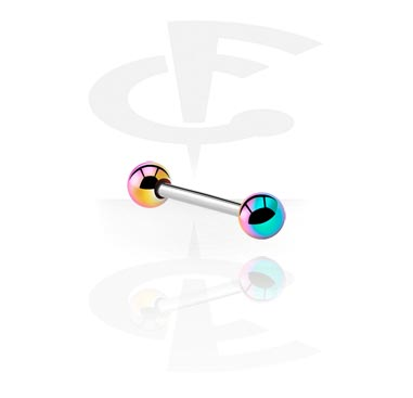 Barbell with Anodized Threaded Balls