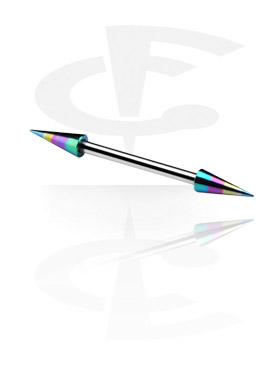 Barbell com Anodised Long Cones