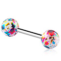 Barbellit, Barbell kanssa coloured balls, Acrylic