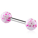 Barbell, Barbell con palline colorate, Acrilico