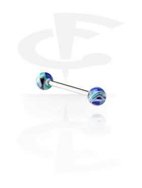 Barbells, Barbell with Jawbreaker Balls, Surgical Steel 316L, Acryl