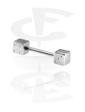 Barbells, Barbell with Dice, Surgical Steel 316L