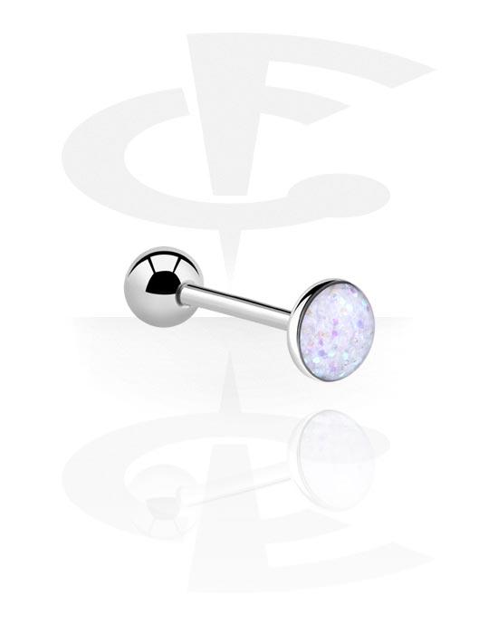 Činky, Glitterline Flat Barbell, Surgical Steel 316L