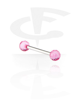 """Barbell mit """"Faceted"""" Kugeln"""