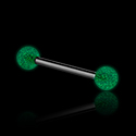 Barbellit, `Glow in the dark` Barbell, Surgical Steel 316L ,  Acrylic
