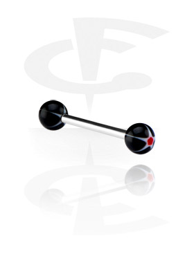 "Šipkice, Barbell with ""Murano""-Balls, Surgical Steel 316L, Acryl"