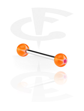 """Barbell with """"Murano""""-Balls"""