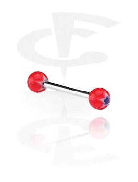 Barbell con bolas de Murano