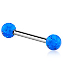 Šipkice, Barbell s coloured balls, Surgical Steel 316L ,  Acrylic