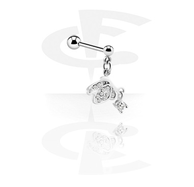 Barbell con charm