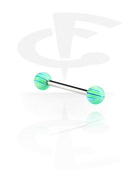 Barbell with Multistriped Beach Balls