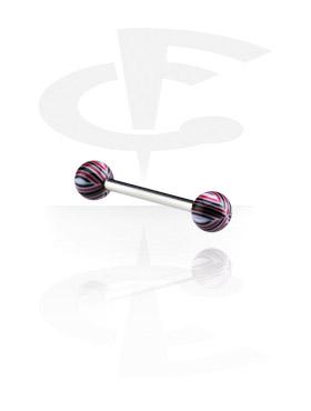 Barbell avec Multistriped Beach Balls