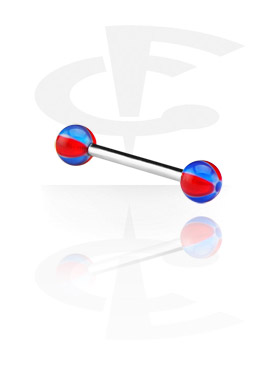 Barbells, Barbell with New Beach Balls, Surgical Steel 316L, Acryl
