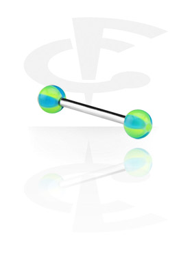 Šipkice, Barbell with New Beach Balls, Surgical Steel 316L, Acryl