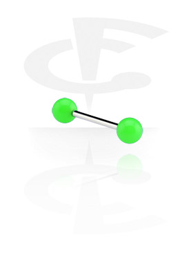 Barbell with Neon Balls