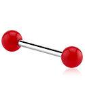 Sztangi, Barbell z coloured balls, Surgical Steel 316L ,  Acrylic