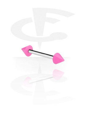 Barbellit, Barbell with Neon Cones, Surgical Steel 316L, Acryl