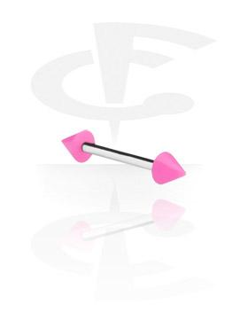 Barbell met Neon Cones
