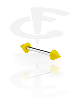 Barbell with Neon Cones