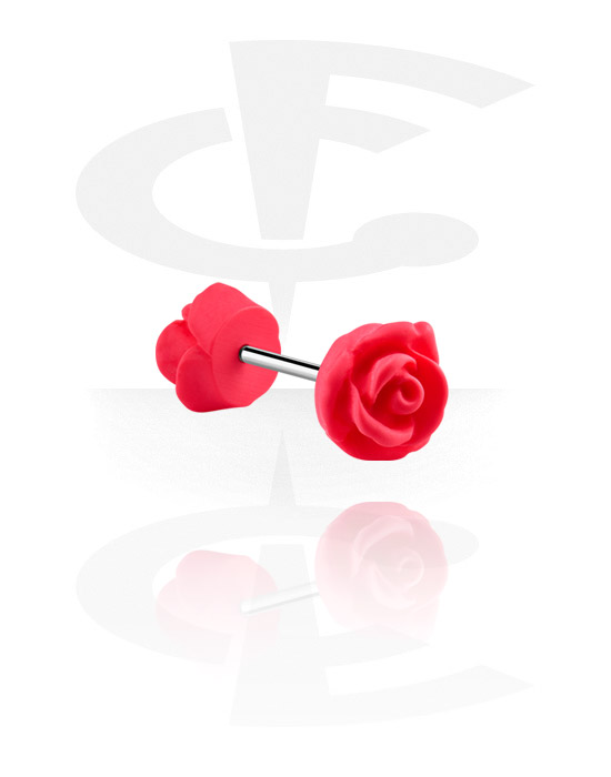 Barbells, Barbell with flower attachment, Surgical Steel 316L, Acrylic