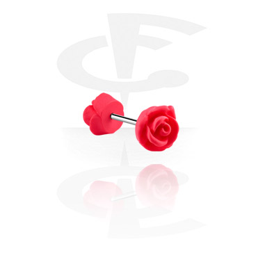 Barbells, Barbell with rose attachment, Surgical Steel 316L ,  Acrylic