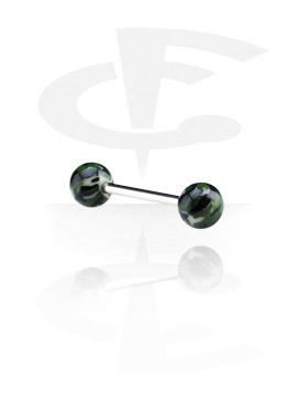 Barbell with Multicoloured Threaded Balls