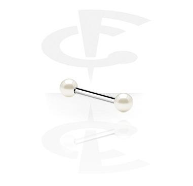 Barbells, Barbell mit synthetischen Perlen, Chirurgenstahl 316L