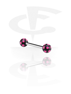 Steel Barbell with Star Print Balls