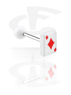 "Barbell with Playing Card ""Diamonds"""