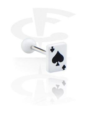 """Barbell con carta da gioco """"picche"""""""