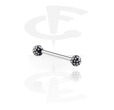 Steel Barbell with Round Print Balls