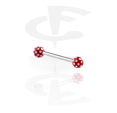 Šipkice, Steel Barbell with Round Print Balls, Surgical Steel 316L, Acryl