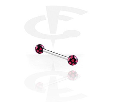 Barbells, Barbell – Hearts, Surgical Steel 316L, Acryl
