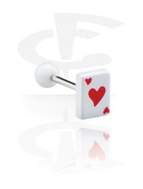 """Barbell mit Spielkarte """"Herz"""""""