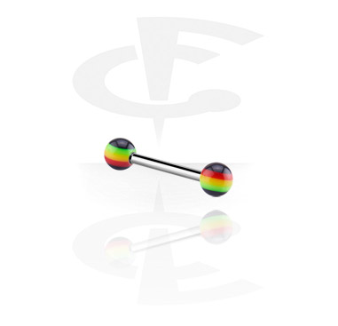Barbell with Rasta balls