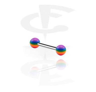 Barbells, Barbell mit Regenbogen-Kugeln, Acryl