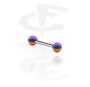 Barbell with rainbow balls