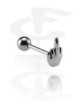 Barbell, Barbell con accessorio, Chirurgico acciaio 316L