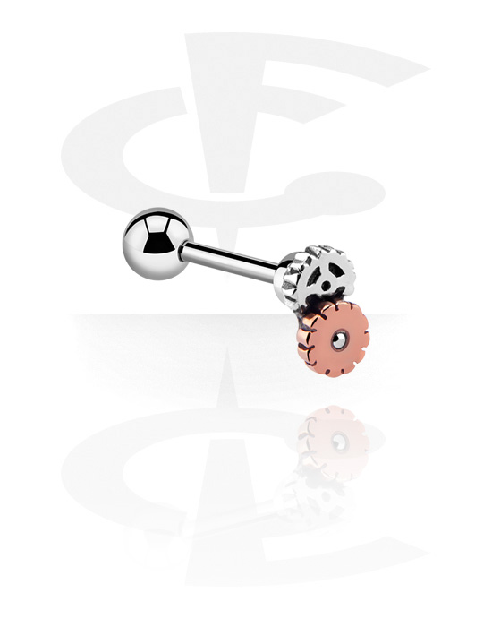 Barbells, Barbell with attachment, Surgical Steel 316L